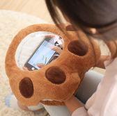 (八八折搶先購)創意卡通可視冬季暖手捂可插手玩手機暖手抱枕可愛毛絨玩具女交換禮物