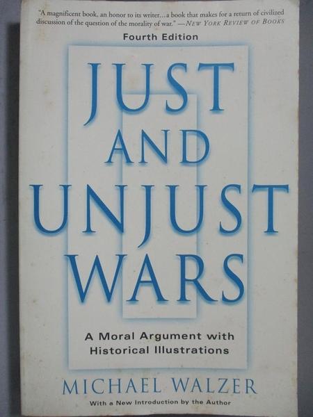 【書寶二手書T4/原文書_NNX】Just And Unjust Wars-A Moral Argument With