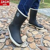 雨靴 春夏休閒款釣魚鞋橡膠情侶男女同款中筒平底雨鞋男高爾夫雨靴水鞋 維多原創