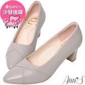 Ann'S 此生最好穿-頂級小羊皮備受呵護跟鞋-紫灰