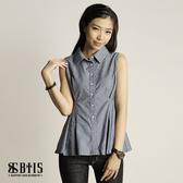 【BTIS】滿版十字印花 背心襯衫  / 灰色