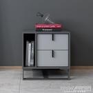床頭櫃現代簡約創意床頭櫃臥室多功能收納櫃輕奢個性實木儲物斗櫃床邊櫃