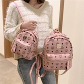 後背包女小包2020新款韓版時尚學生書包ins超火印花鉚釘小背包潮 雙11提前購