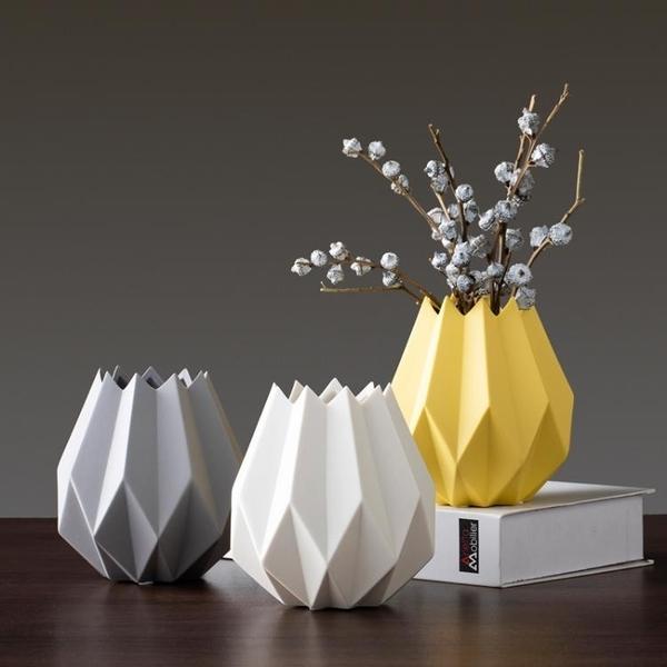 簡約陶瓷花瓶擺件客廳插花花瓶北歐裝飾品擺件