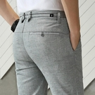 亞麻褲子男褲夏季薄款修身直筒冰絲超薄寬鬆透氣夏天長褲男休閒褲 依凡卡時尚