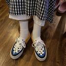 原創新品小白鞋女玩具總動員胡迪配色手繪涂鴉帆布鞋【全館免運】