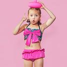 兒童泳裝 碎花 花邊 蛋糕裙 三件套 長袖 兒童泳裝【SFC2033】 BOBI  12/14