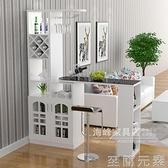 家用吧台桌酒柜客廳隔斷柜歐式旋轉玄關門廳柜簡約現代小吧台酒柜