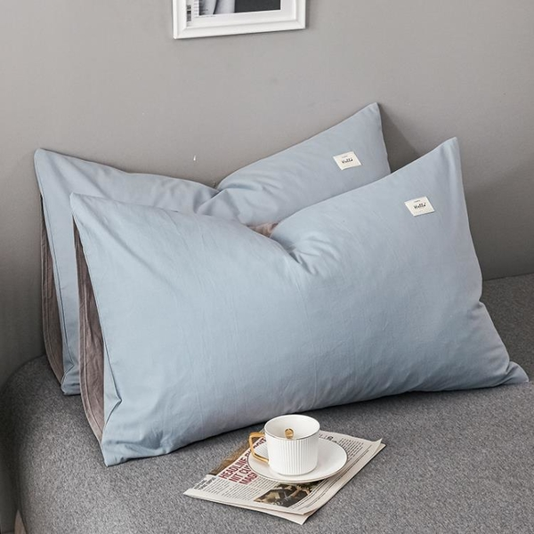 全棉枕套一對裝家用純棉加厚枕頭套ins單人學生宿舍枕芯套內膽套 設計師生活百貨