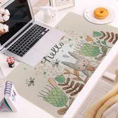 卡通兔子特大滑鼠墊加大可愛防滑電腦辦公桌墊長方形鎖邊鍵盤墊    西城故事