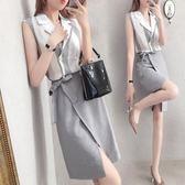 小清新套裝 女氣質淑女冷淡風襯衫配裙子兩件套