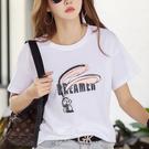 白色t恤女短袖夏季韓版寬松百搭超火cec半袖體恤衫潮PF412快時尚