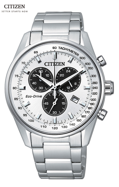CITIZEN 星辰Eco-Drive熱銷熊貓(AT2390-58A)光動能男錶39.8MM