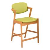 【YFS】Ann皮面實木中吧椅-50x56x93.5cm(二色可選)