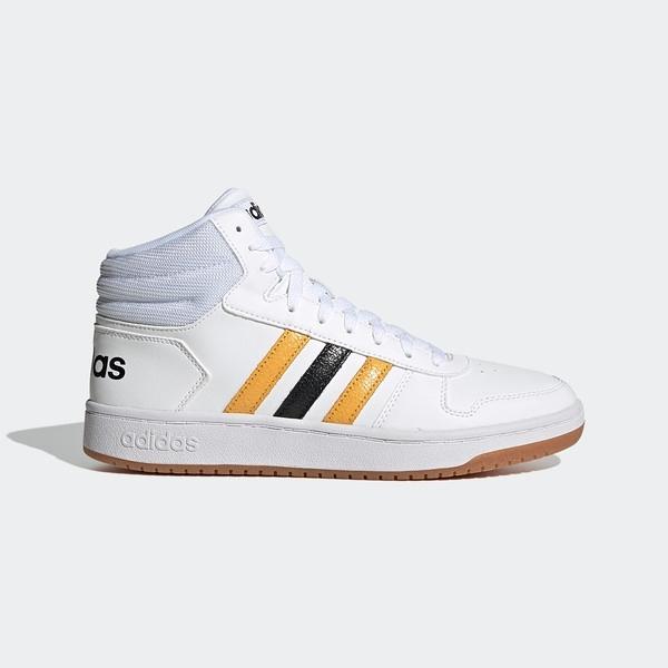 Adidas Neo Hoops 2.0 Mid [FW9347] 男鞋 運動 休閒 籃球 中筒 穿搭 愛迪達 白金