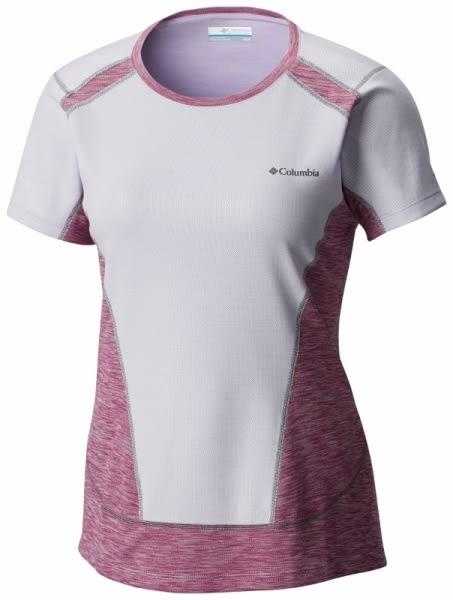 【Columbia】女款抗曬50快排短袖上衣 - 紫 AR2180(PL)