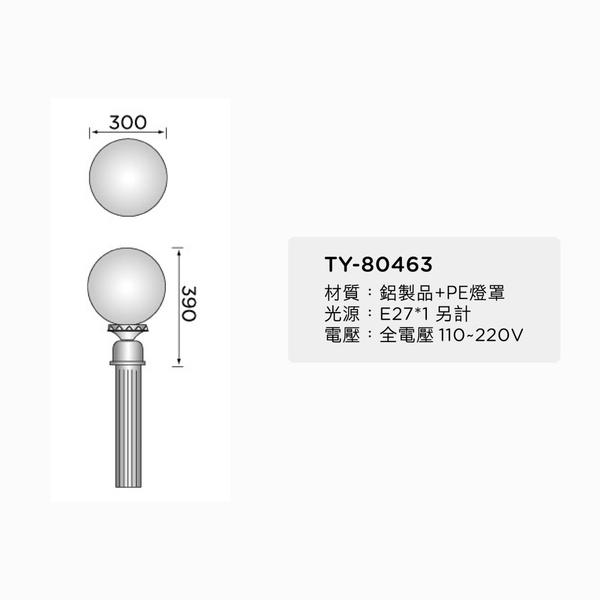 30cm戶外庭園燈 12吋透明球 60mm插管 塑膠球 戶外燈 立燈 可搭配LED 庭園造景 景觀設計 現貨
