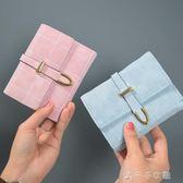 短款女士錢包可愛日韓版簡約零錢包大鈔夾搭扣小錢包學生消費滿一千現折一百