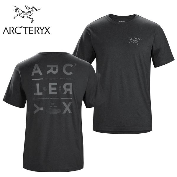 【ARC TERYX 始祖鳥 男 Component休閒短袖T恤《黑灰》】25233/短袖上衣/圓領短袖上衣