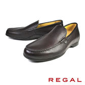 【REGAL】簡約素色樂福鞋 深咖(T89A-DBR)