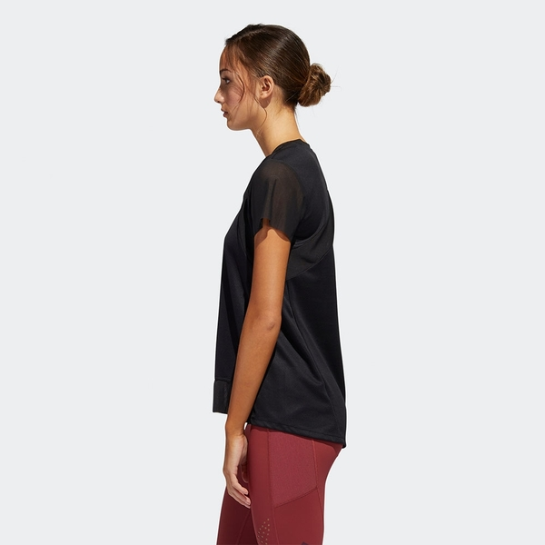 ADIDAS HEAT.RDY 女裝 短袖 慢跑 訓練 吸汗快乾 透氣孔 局部網布 黑【運動世界】GL6926