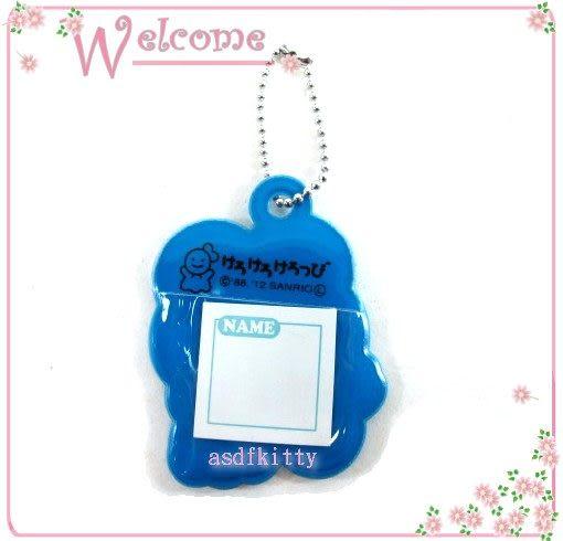 個人用品【asdfkitty】大眼蛙眨眼姓名吊牌/ 行李吊牌/書包/補習袋都可用-日本正版
