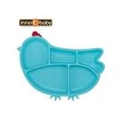 美國 Innobaby 歡樂小雞矽膠防滑餐盤(水藍)[衛立兒生活館]