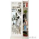 原創現代簡約孔雀雙面間廳玄關櫃隔斷置物架屏風裝飾櫃隔斷櫃WD  一米陽光