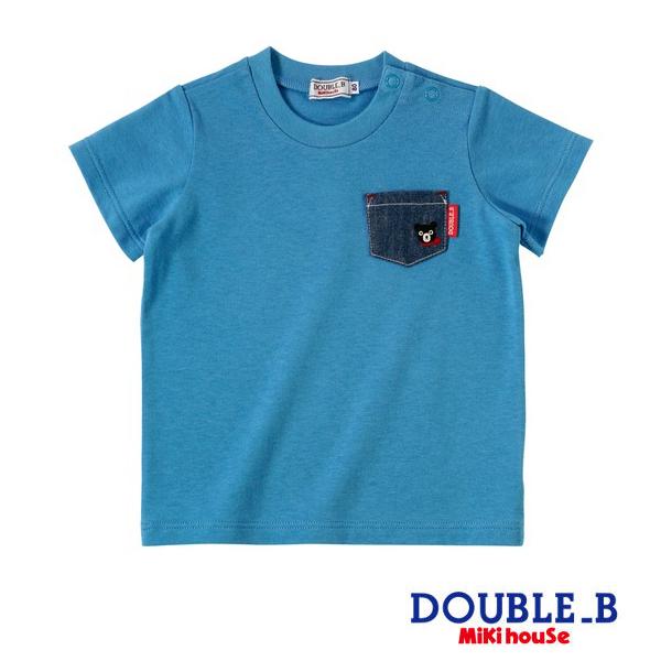 DOUBLE_B Everyday黑 口袋短袖T恤(藍)