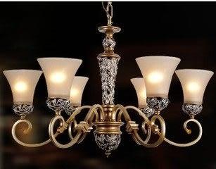 設計師美術精品館吊燈歐式客廳吊燈地中海復古美式鄉村臥室餐廳古典樹脂鐵藝燈具