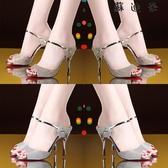 高跟細跟涼鞋女涼拖一字時尚女鞋