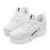 PLAYBOY 簡約風格輕量休閒鞋-白