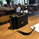 手提包 高級感洋氣女包2021新款韓版百搭菱格斜挎包時尚大包大容量手提包【快速出貨八折搶購】