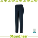 【Mountneer 山林 女 SOFTSHELL保暖極窄管褲《灰藍》】32S06/休閒褲/工作褲/彈性
