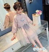 漢服女童禮服春秋兒童中國風古裝連身裙唐裝女孩公主襦裙【奇趣小屋】