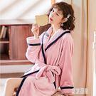 2019棉質睡衣女士冬季加厚加絨法蘭絨家居服套裝可愛款秋冬天DF353【東京潮流】