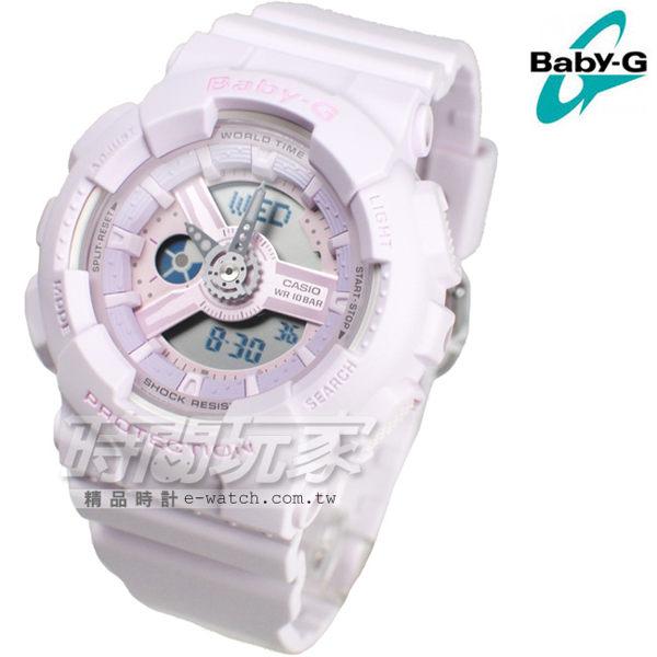 Baby-G BA-110-4A2 夏日祭 櫻花淺粉紅 運動女錶 電子+指針雙顯示 防水手錶 BA-110-4A2DR CASIO卡西歐