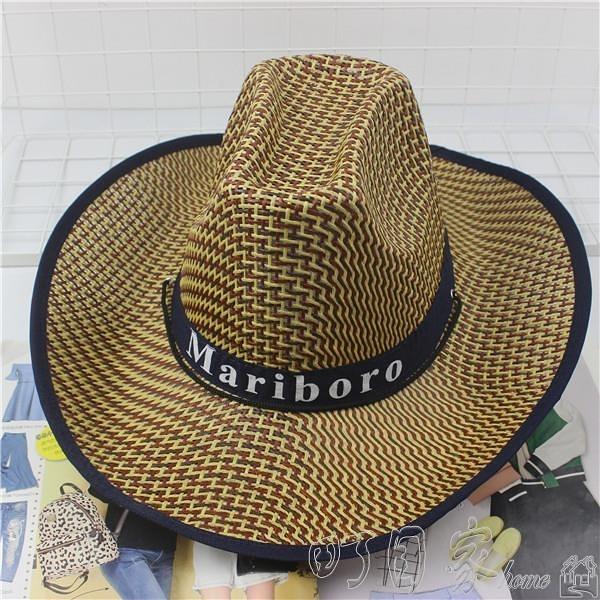 免運快出 釣魚騎車男士牛仔帽度假夏沙灘大沿帽子女太陽防曬帽子男遮陽草帽 町目家