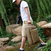 後背包韓版潮流男士背包大容量帆布包休閒旅行包戶外登山包電腦包