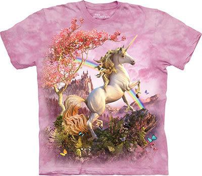 【摩達客】 (預購) 美國進口【The Mountain】自然純棉系列 絕美獨角獸 T恤(10412045158a)