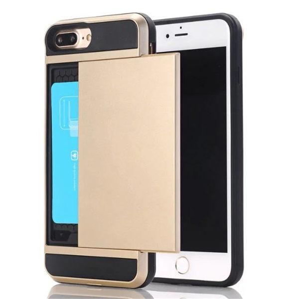 【SZ34】JJ iPhone 7/8 手機殼 滑蓋式 可插卡 全包邊 硬殼 iPhone7/8 plus 保護套 保護殼