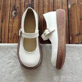 娃娃鞋 大頭鞋原宿風單鞋圓頭鞋娃娃鞋平底鞋森繫復古文藝女鞋小清新女鞋 唯伊時尚