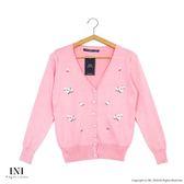 【INI】品味穿著、繡花色調百搭針織小外套.粉色