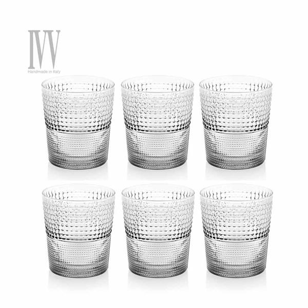 義大利IVV SPEEDY系列-280ML手工純淨玻璃威士忌杯六入組