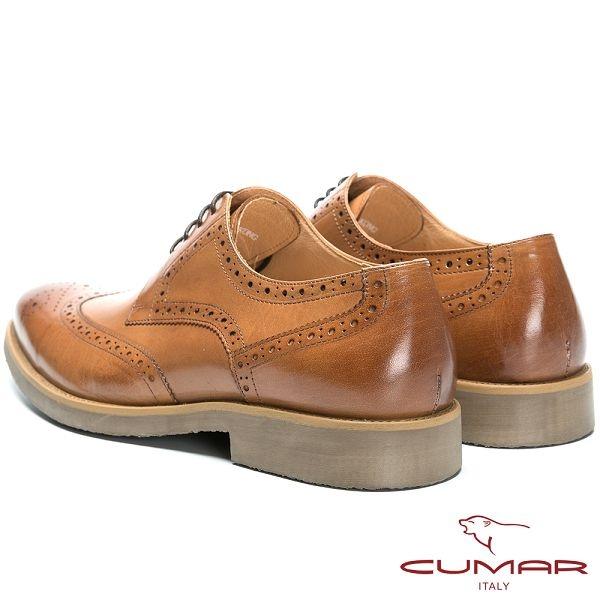 CUMAR 英倫紳士 舒適胎牛皮經典牛津鞋-棕胎牛色