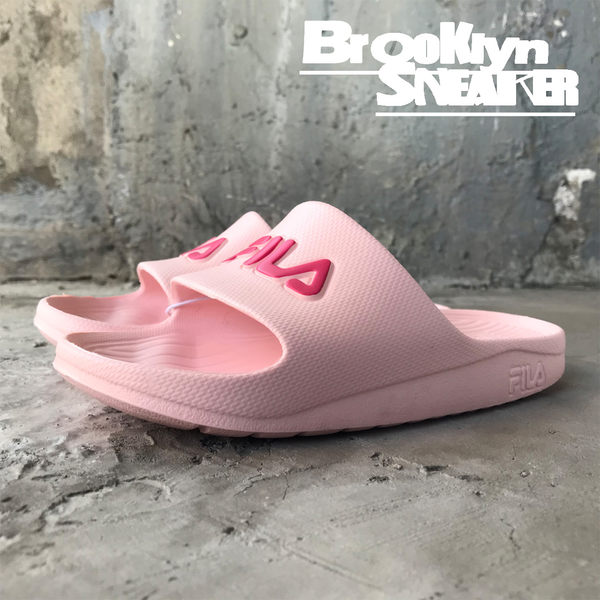 Fila 粉紅 桃紅Logo 防水 拖鞋 (布魯克林) 2018/7月 4-S355R-555
