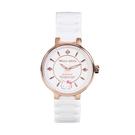 HELLO KITTY 凱蒂貓優雅陶瓷手錶-白