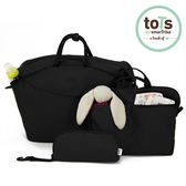 【 英國smarTrike-Tots 】簡約雙容量 5合1 防潑水育兒包 ( 黑 )╭★ JOYBUS玩具百貨