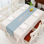 一件免運-桌巾北歐現代簡約桌旗原創火烈鳥餐桌布藝茶幾布家用臥室床旗玄關櫃巾4色