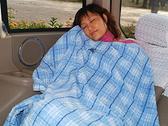 BURBERRY日系絕版純棉格紋毛巾被蓋毯(藍色)081600-2